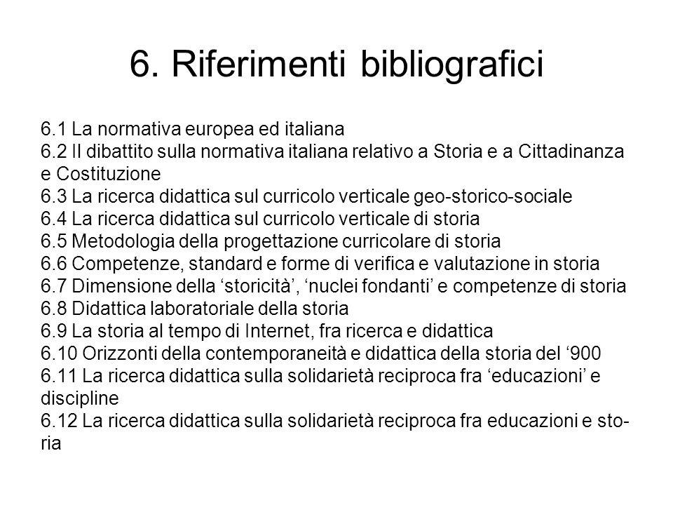 6. Riferimenti bibliografici