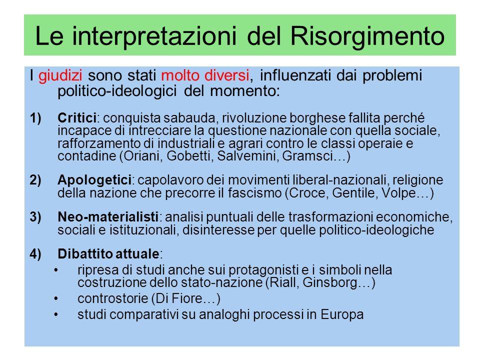 Le interpretazioni del Risorgimento