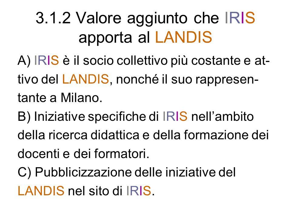 3.1.2 Valore aggiunto che IRIS apporta al LANDIS