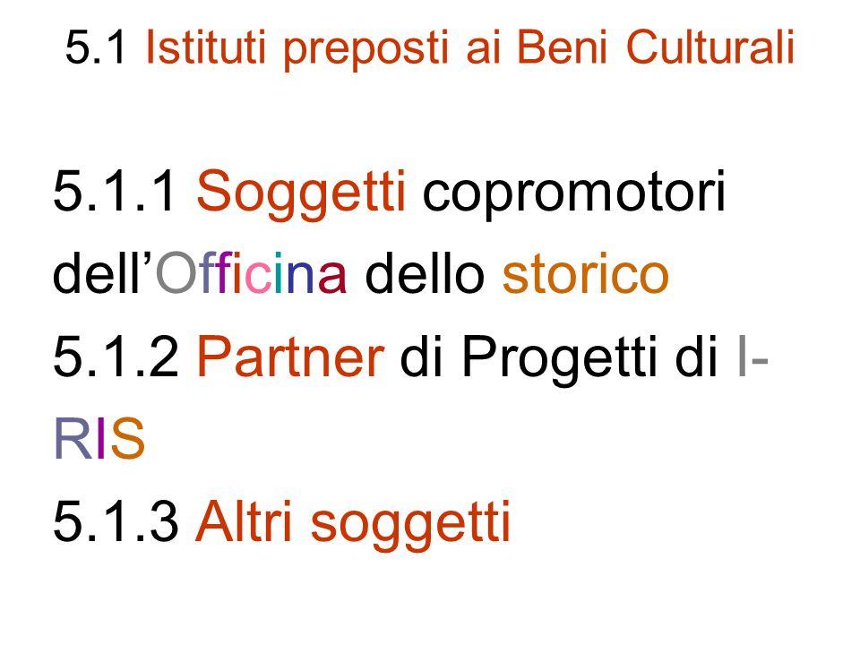 5.1 Istituti preposti ai Beni Culturali