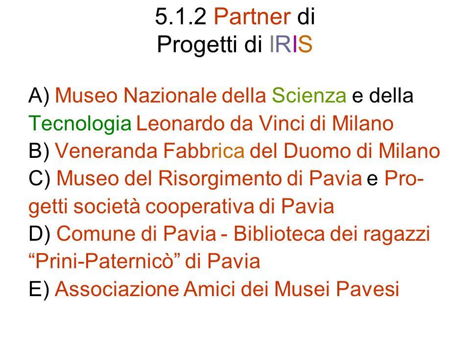 5.1.2 Partner di Progetti di IRIS