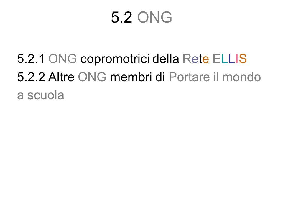 5.2 ONG 5.2.1 ONG copromotrici della Rete ELLIS
