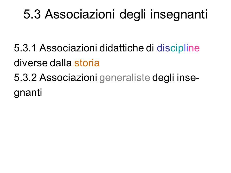 5.3 Associazioni degli insegnanti