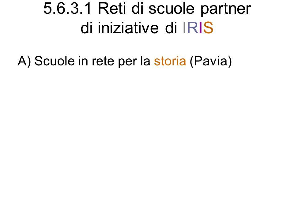 5.6.3.1 Reti di scuole partner di iniziative di IRIS