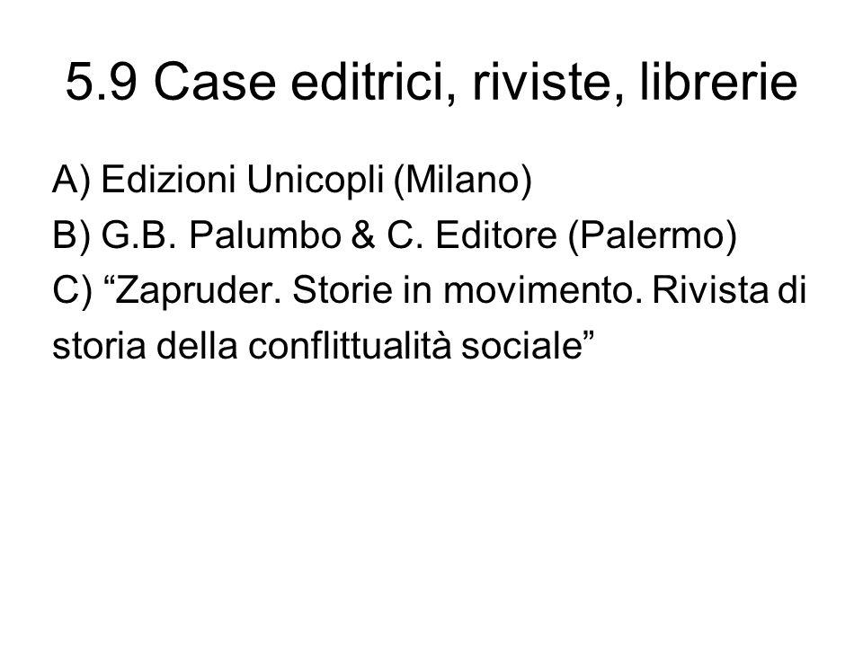 5.9 Case editrici, riviste, librerie