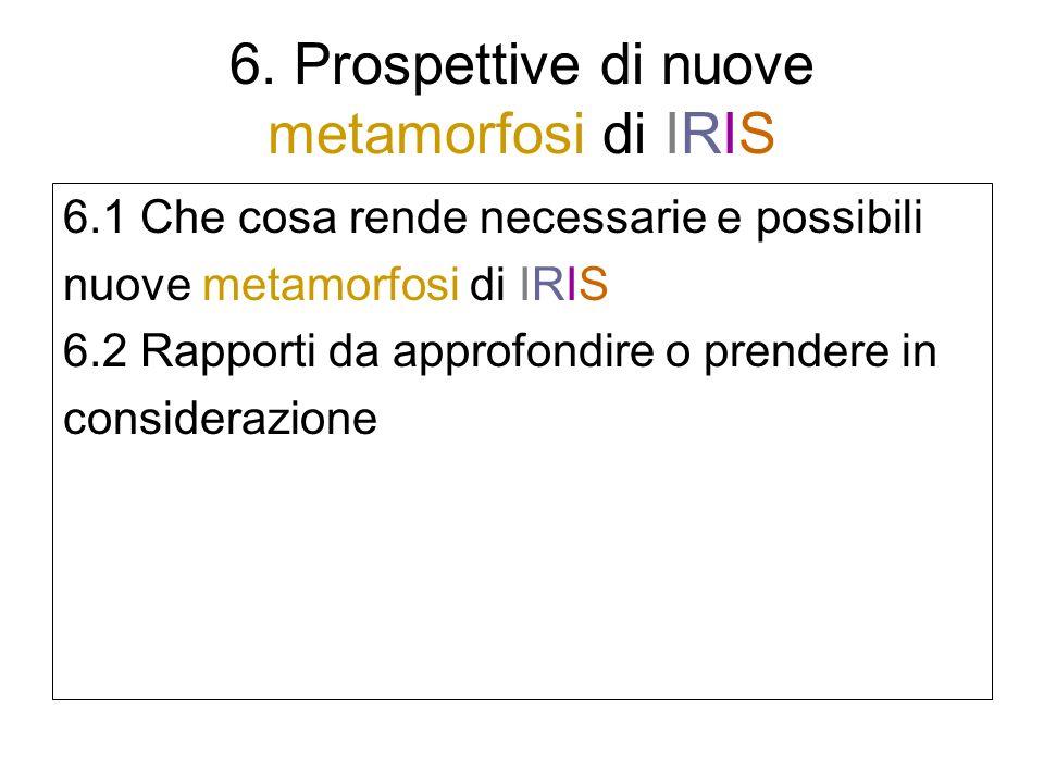 6. Prospettive di nuove metamorfosi di IRIS