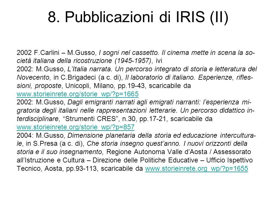 8. Pubblicazioni di IRIS (II)