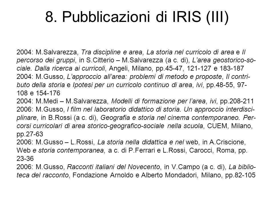 8. Pubblicazioni di IRIS (III)