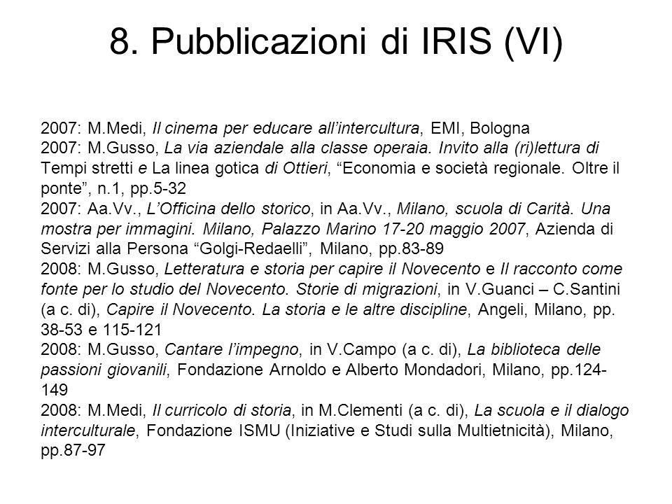 8. Pubblicazioni di IRIS (VI)