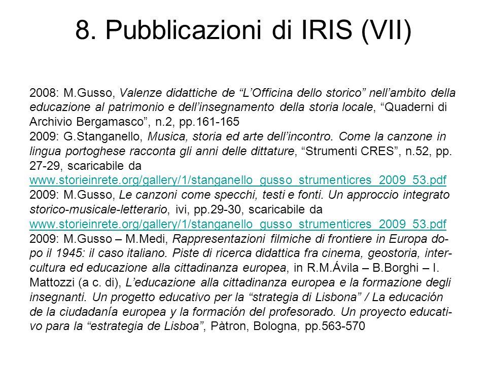 8. Pubblicazioni di IRIS (VII)