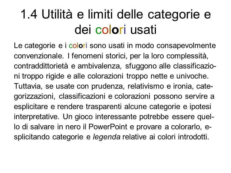 1.4 Utilità e limiti delle categorie e dei colori usati