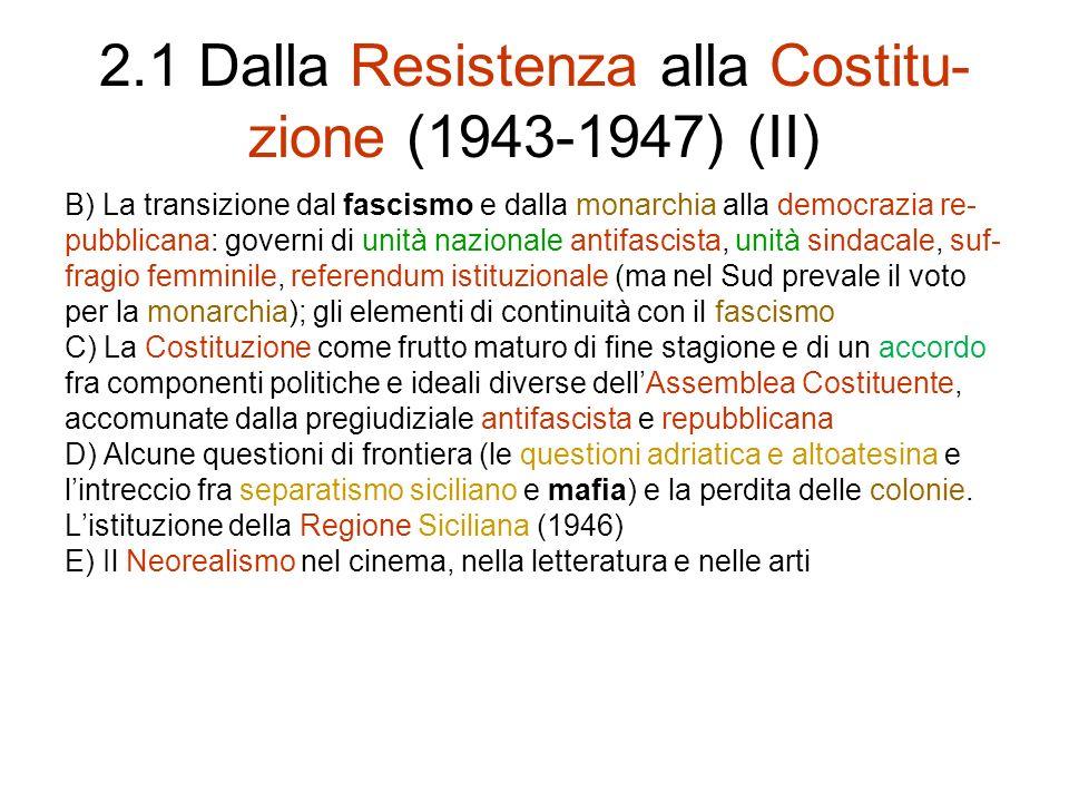2.1 Dalla Resistenza alla Costitu-zione (1943-1947) (II)