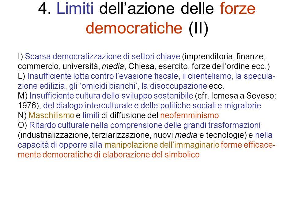 4. Limiti dell'azione delle forze democratiche (II)
