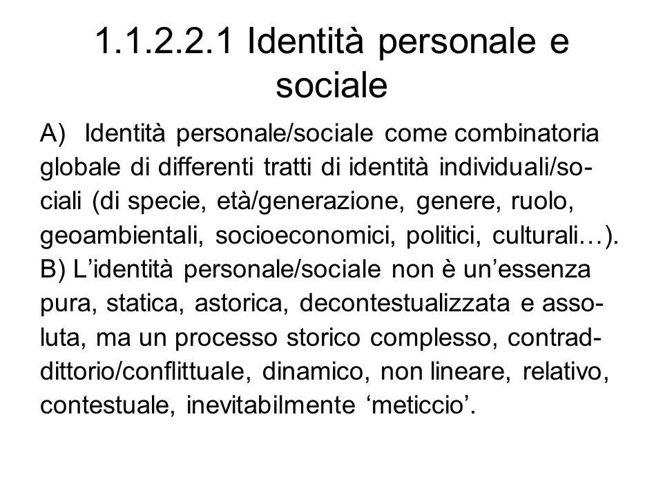 1.1.2.2.1 Identità personale e sociale