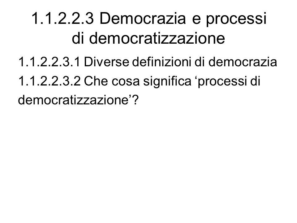 1.1.2.2.3 Democrazia e processi di democratizzazione