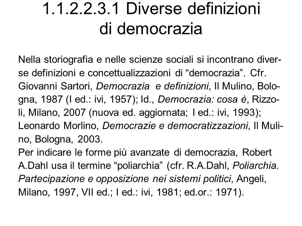 1.1.2.2.3.1 Diverse definizioni di democrazia