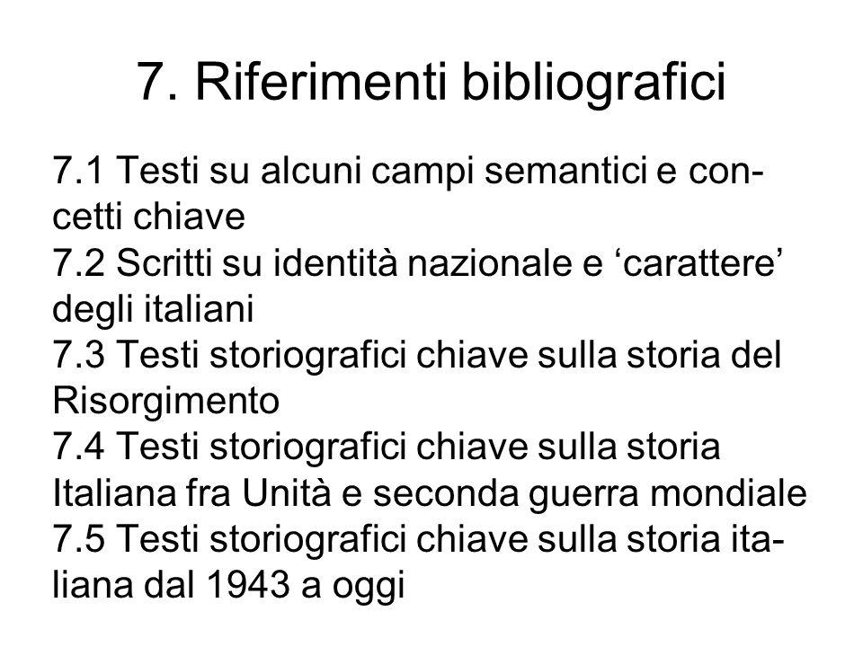 7. Riferimenti bibliografici