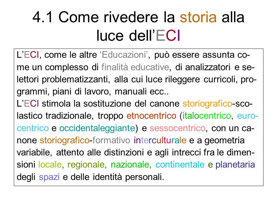 4.1 Come rivedere la storia alla luce dell'ECI