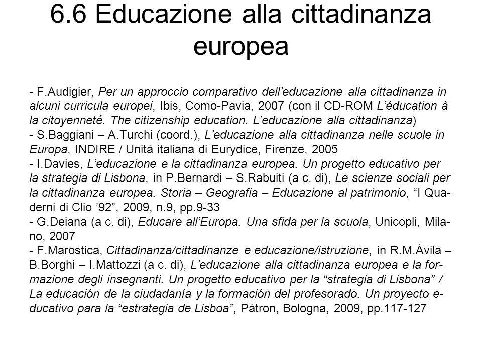 6.6 Educazione alla cittadinanza europea