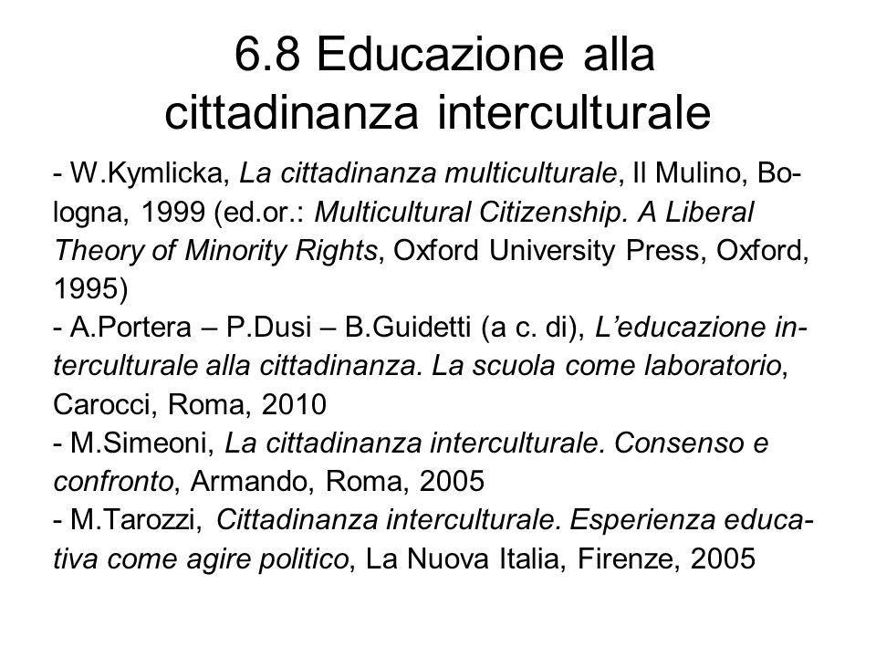 6.8 Educazione alla cittadinanza interculturale