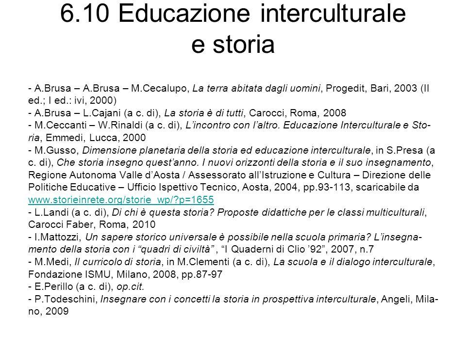 6.10 Educazione interculturale e storia