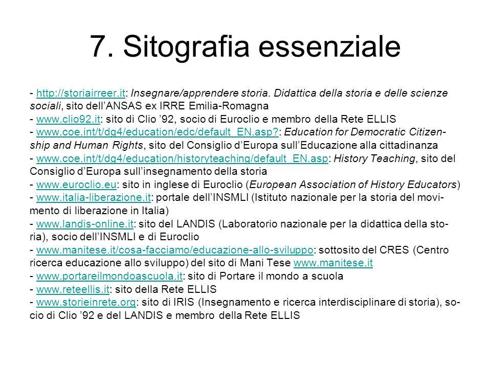 7. Sitografia essenziale