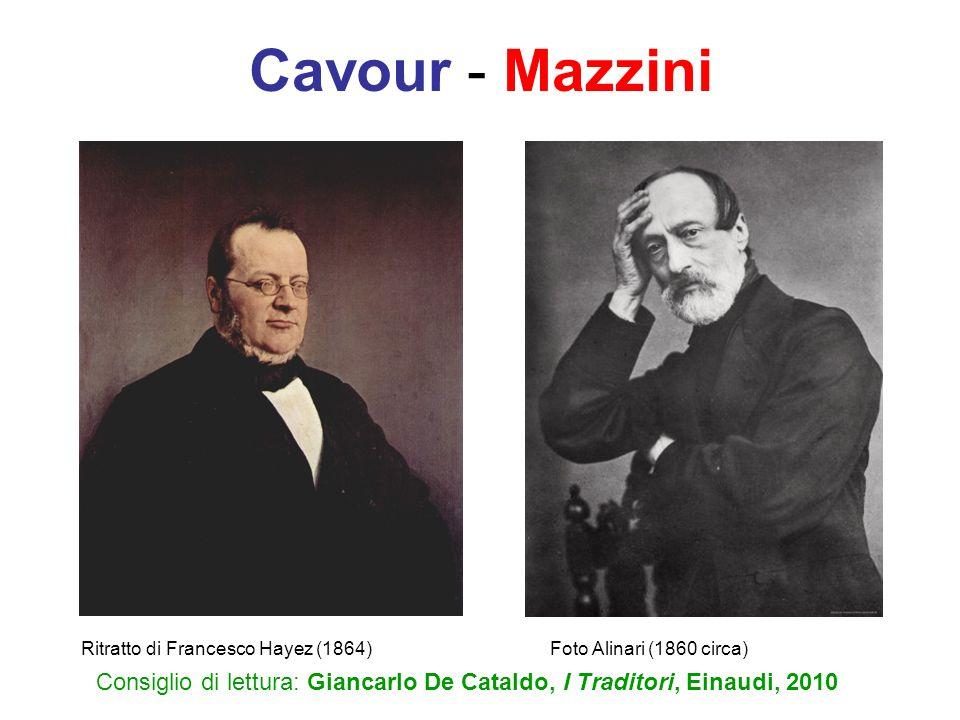 Cavour - Mazzini Ritratto di Francesco Hayez (1864) Foto Alinari (1860 circa)