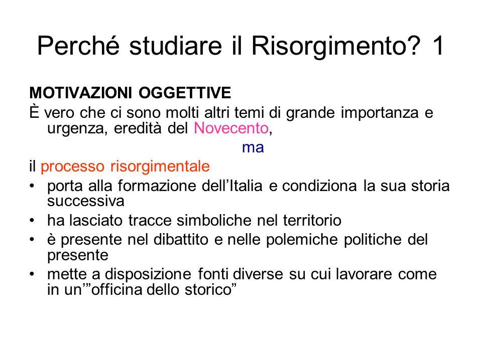 Perché studiare il Risorgimento 1