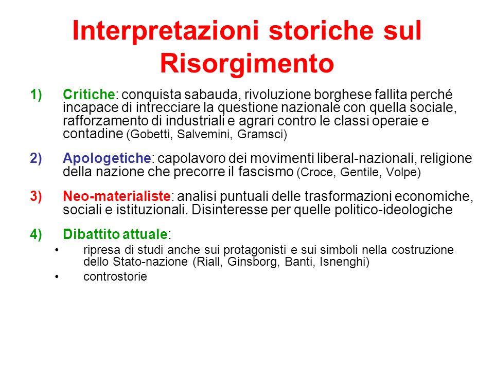Interpretazioni storiche sul Risorgimento