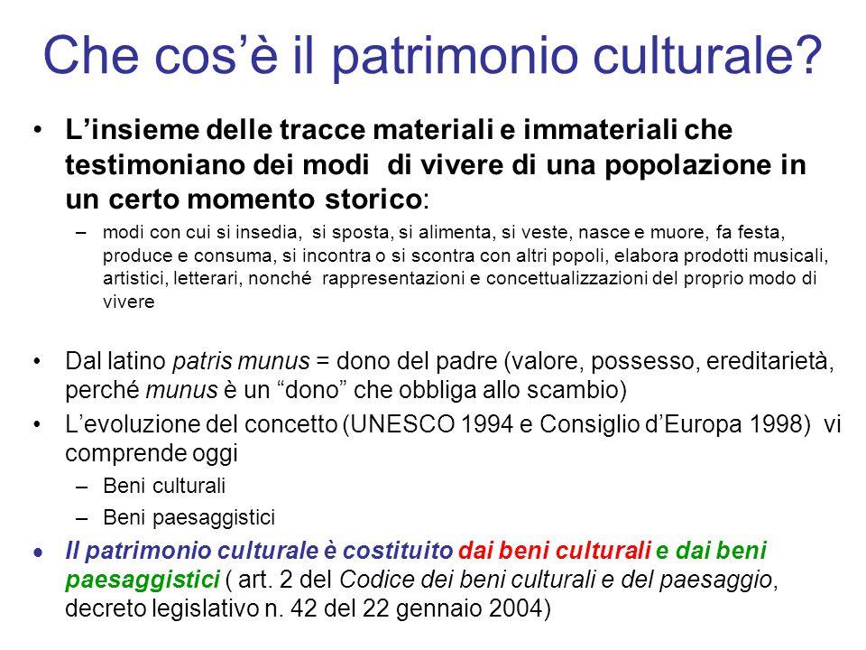 Che cos'è il patrimonio culturale