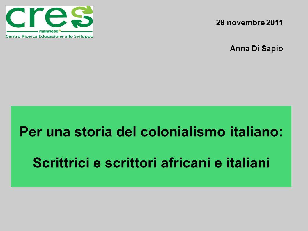 Per una storia del colonialismo italiano: