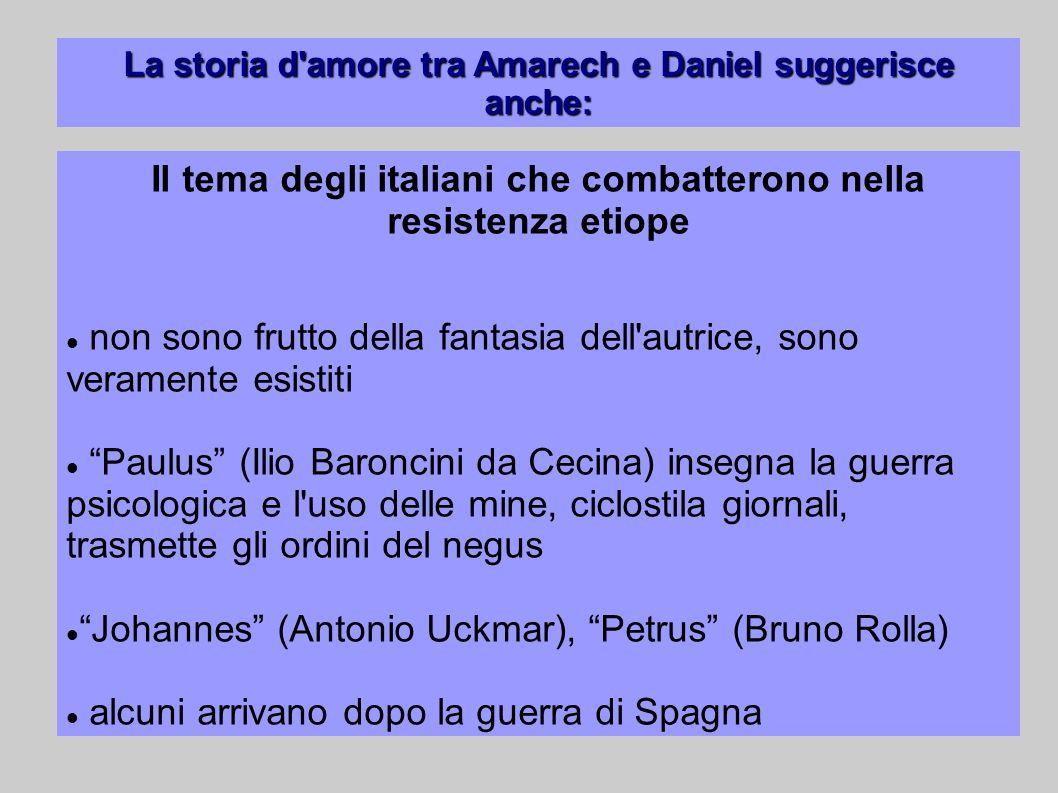 Il tema degli italiani che combatterono nella resistenza etiope