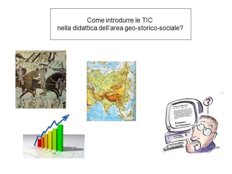nella didattica dell'area geo-storico-sociale
