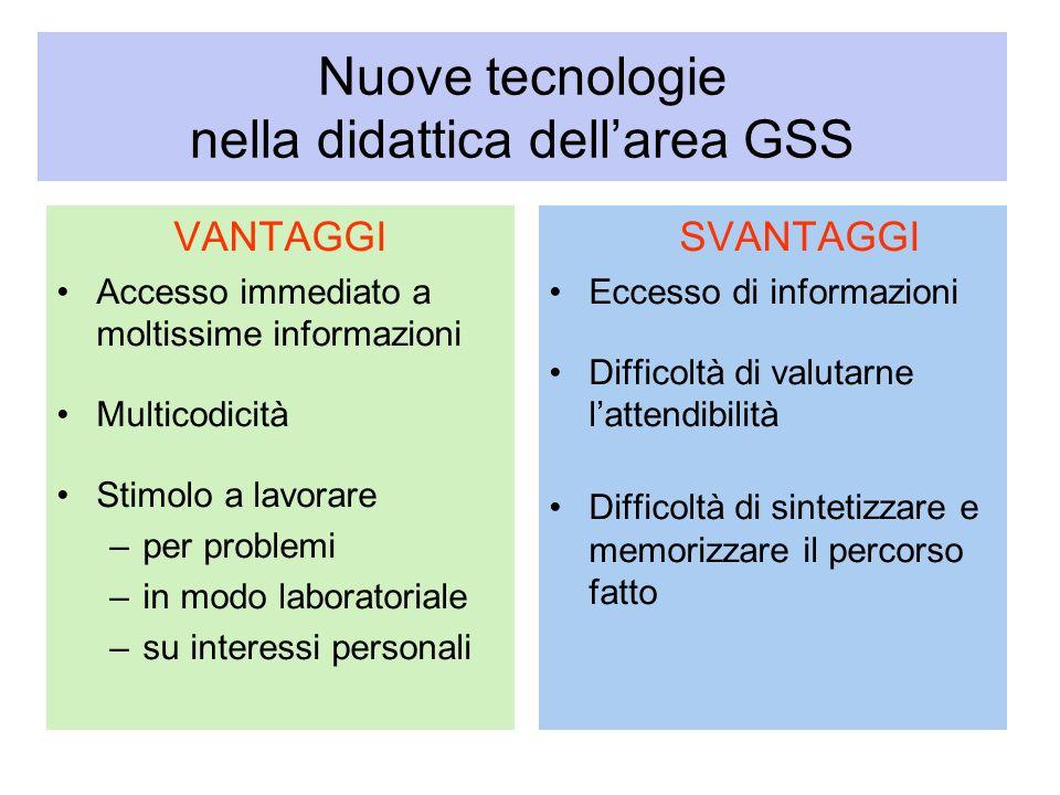 Nuove tecnologie nella didattica dell'area GSS