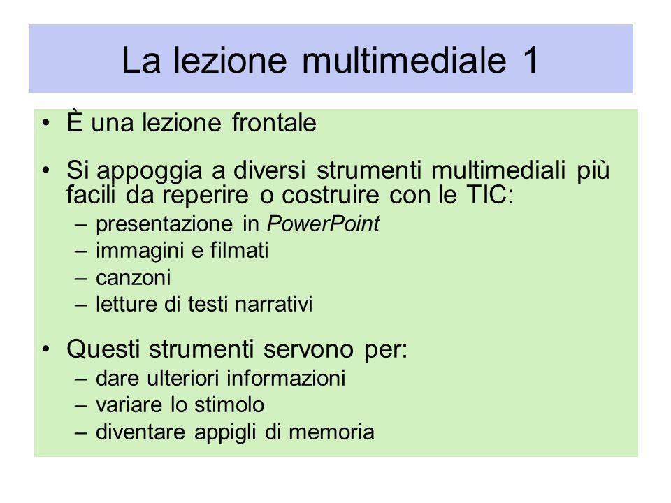La lezione multimediale 1
