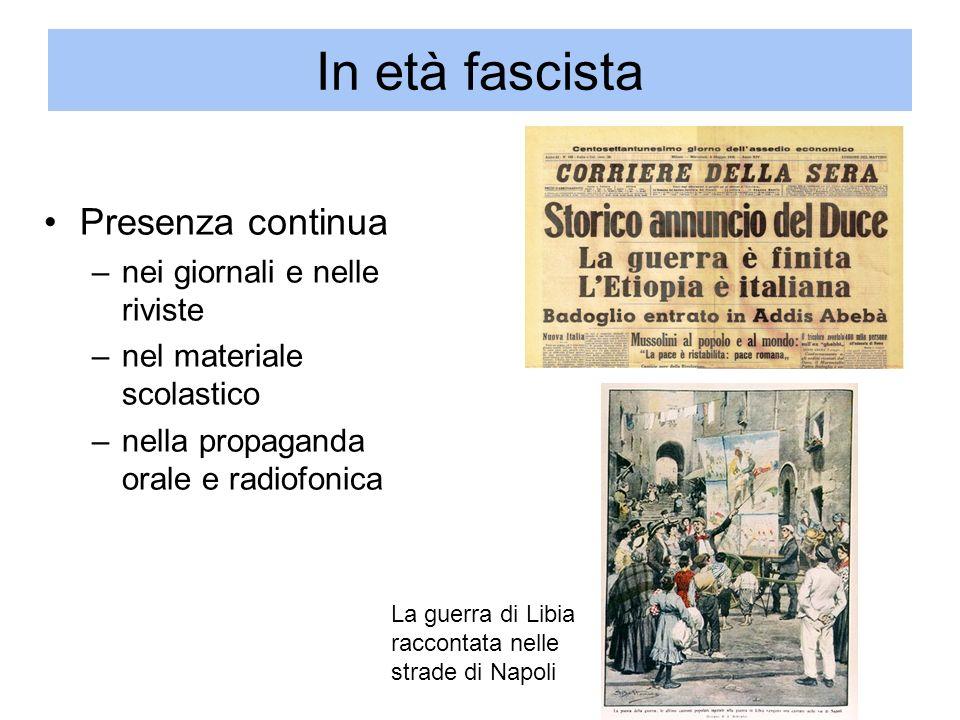 In età fascista Presenza continua nei giornali e nelle riviste