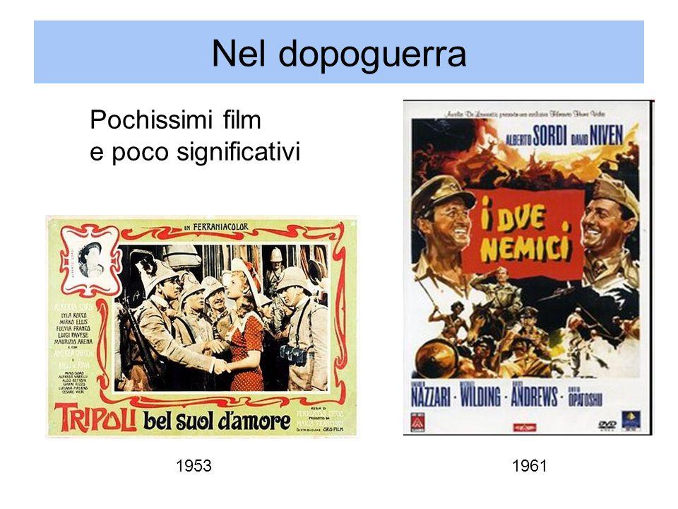 Nel dopoguerra Pochissimi film e poco significativi 1953 1961