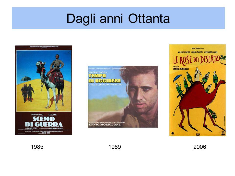 Dagli anni Ottanta 1985 1989 2006 Mario Tobino, Il deserto della Libia