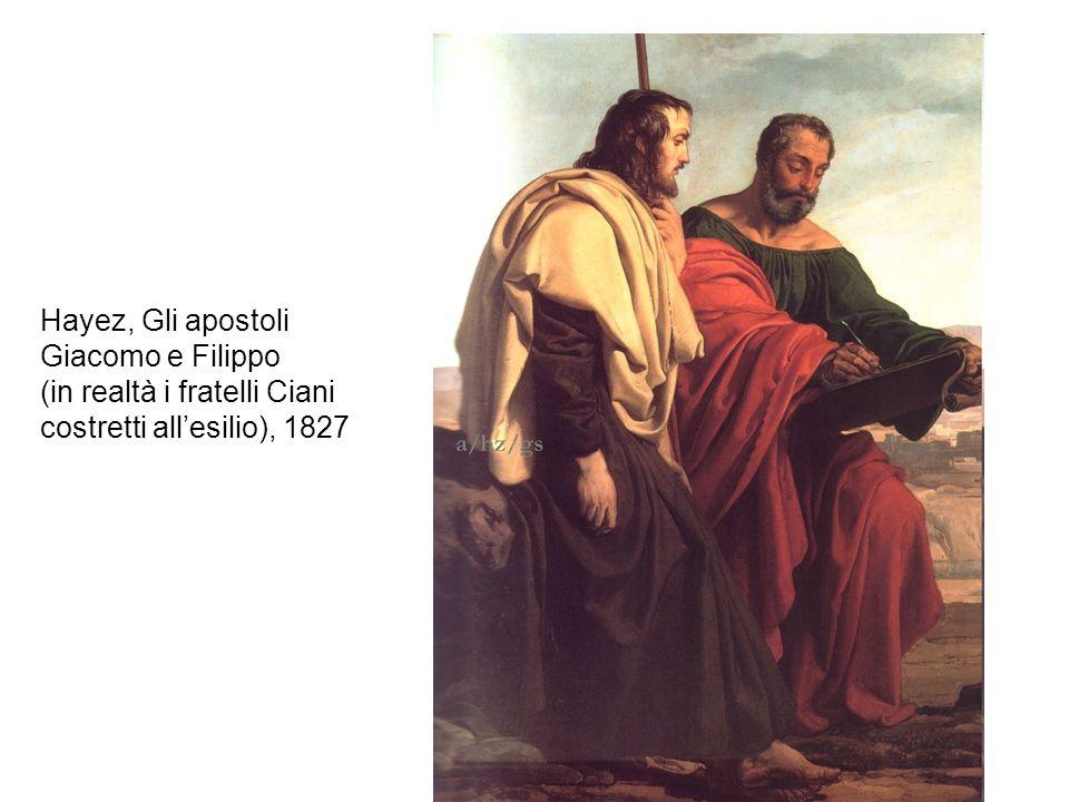 Hayez, Gli apostoli Giacomo e Filippo (in realtà i fratelli Ciani costretti all'esilio), 1827
