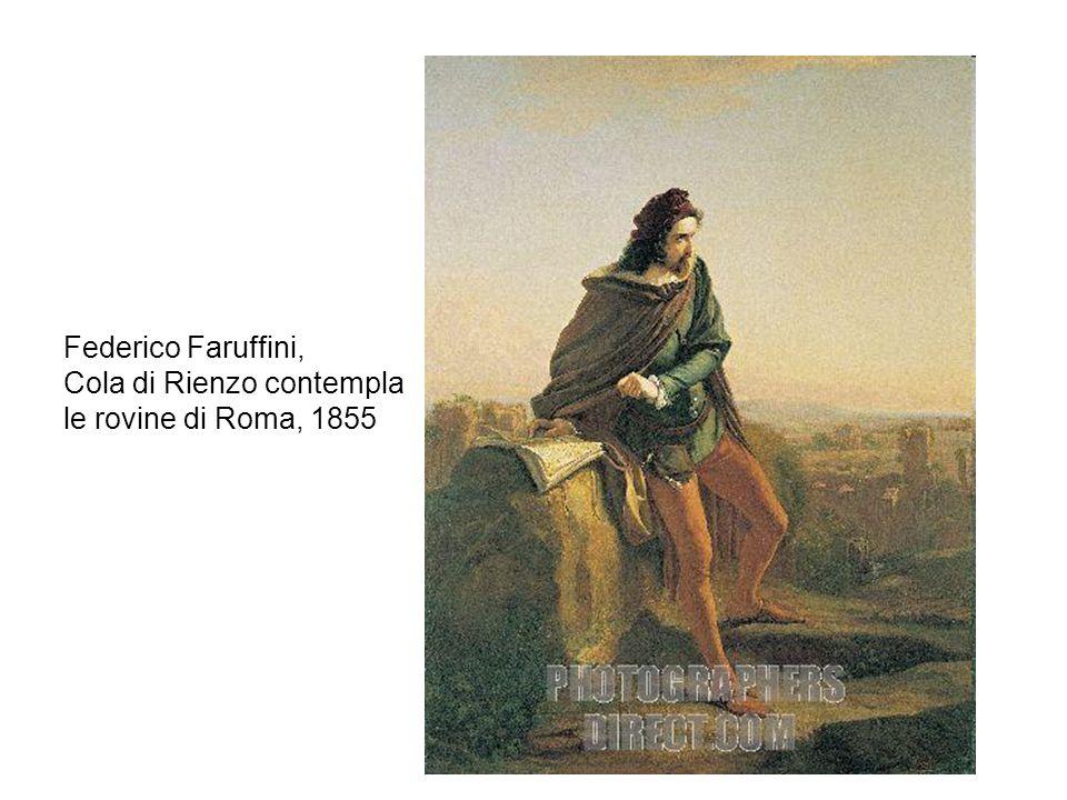 Federico Faruffini, Cola di Rienzo contempla le rovine di Roma, 1855