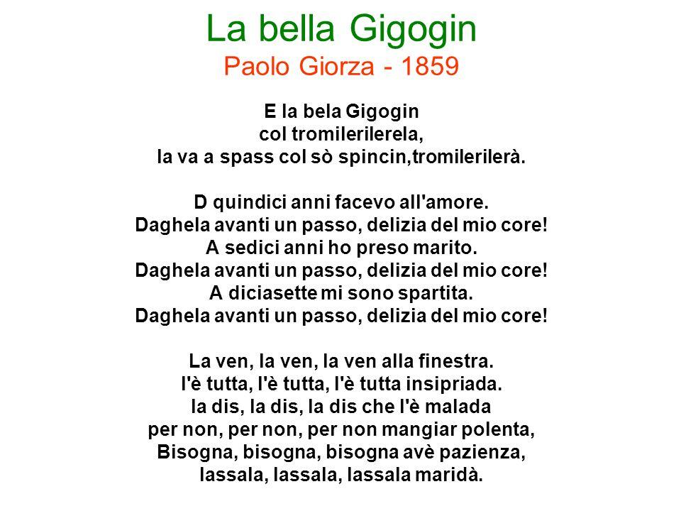 La bella Gigogin Paolo Giorza - 1859