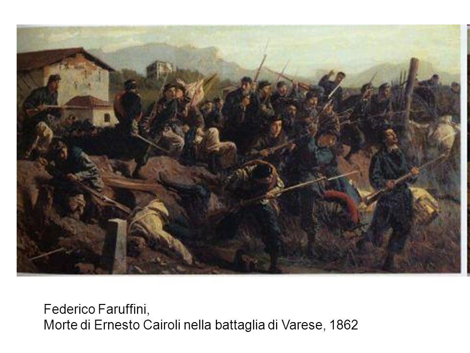 Federico Faruffini, Morte di Ernesto Cairoli nella battaglia di Varese, 1862