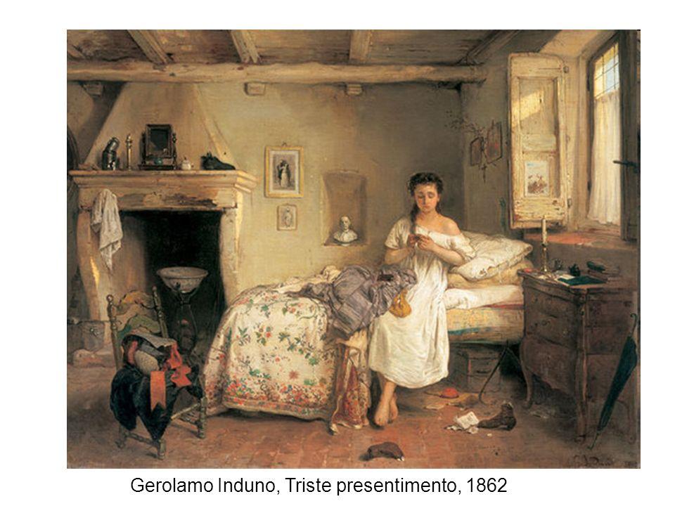 Gerolamo Induno, Triste presentimento, 1862