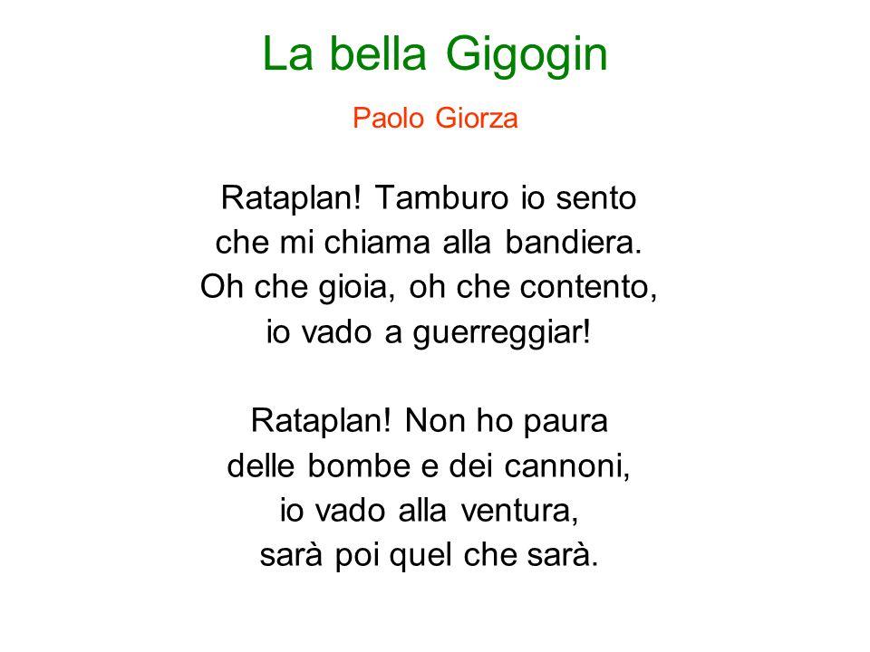 La bella Gigogin Paolo Giorza