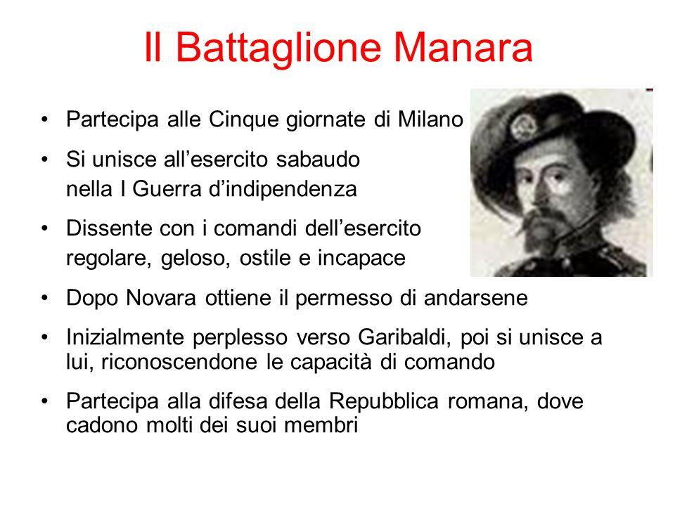 Il Battaglione Manara Partecipa alle Cinque giornate di Milano