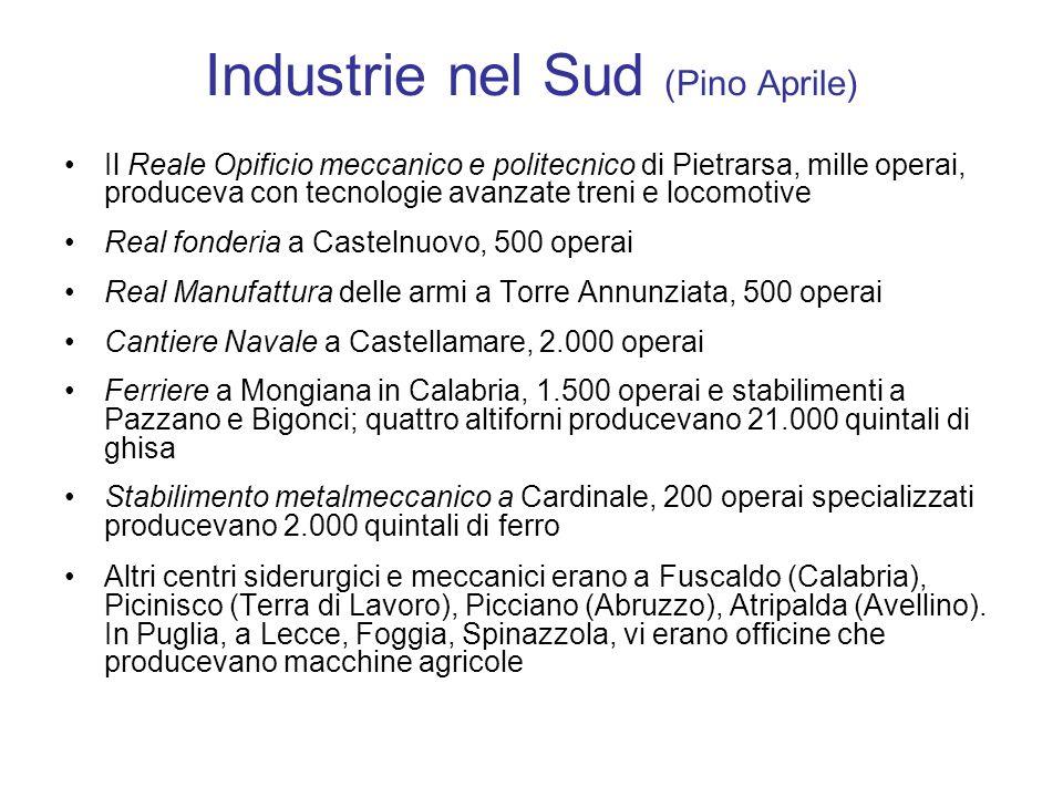 Industrie nel Sud (Pino Aprile)