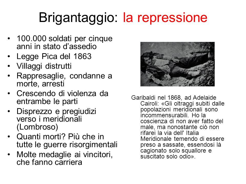 Brigantaggio: la repressione