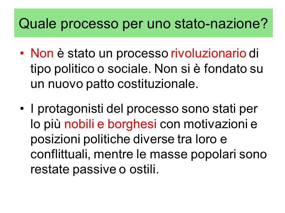 Quale processo per uno stato-nazione