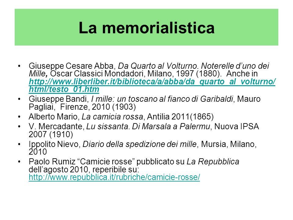 La memorialistica