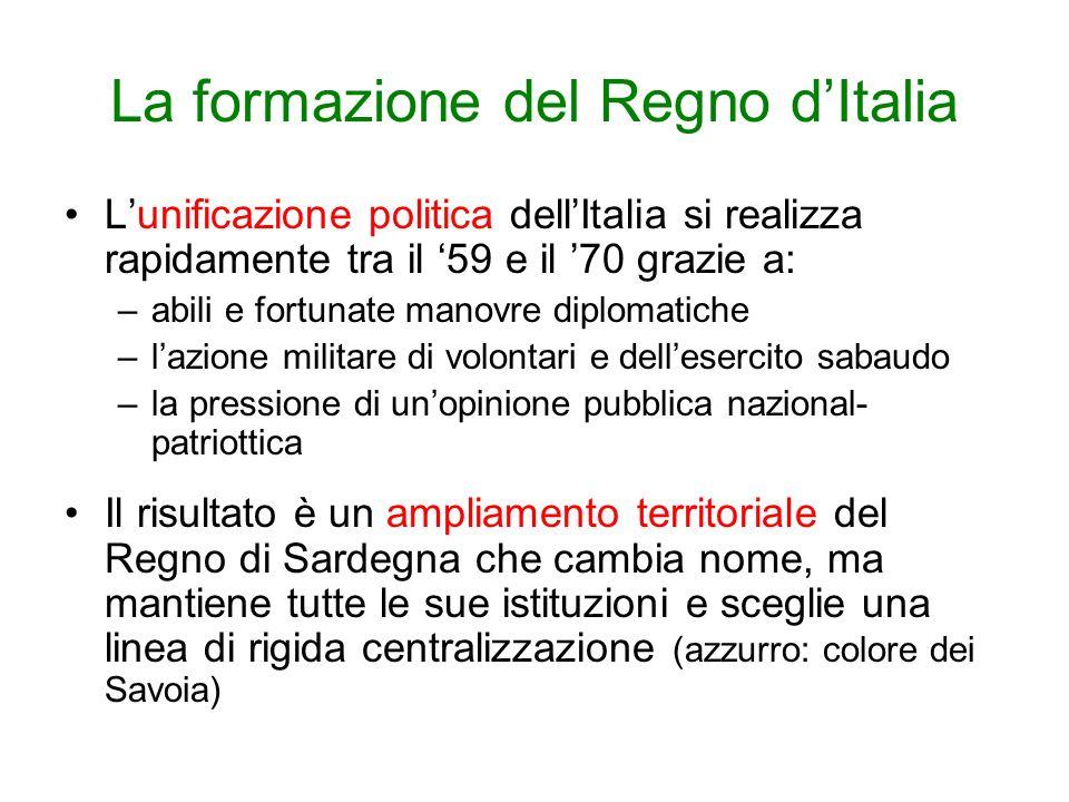 La formazione del Regno d'Italia